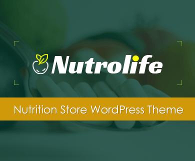 NutroLife - Nutrition Store WordPress Theme