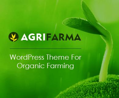 AgriFarma - Organic Farming WordPress Theme