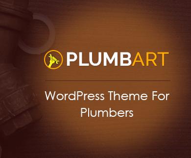 PlumbArt - Plumber WordPress Theme