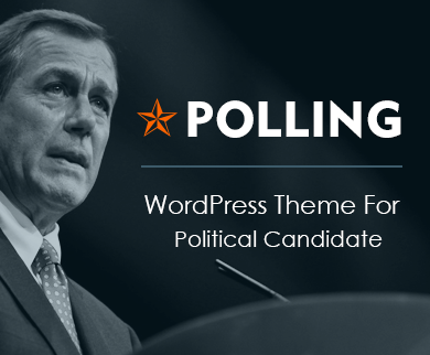 Polling - Political Candidate WordPress Theme
