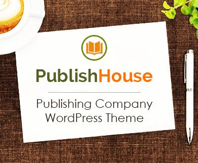 PublishHouse - Publishing Company WordPress Theme