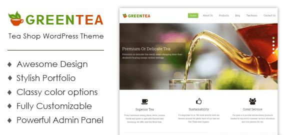 Tea Shop WordPress Theme