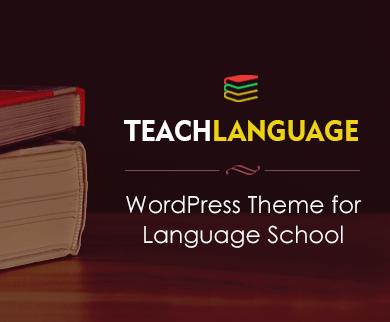 TeachLanguage - Language School WordPress Theme