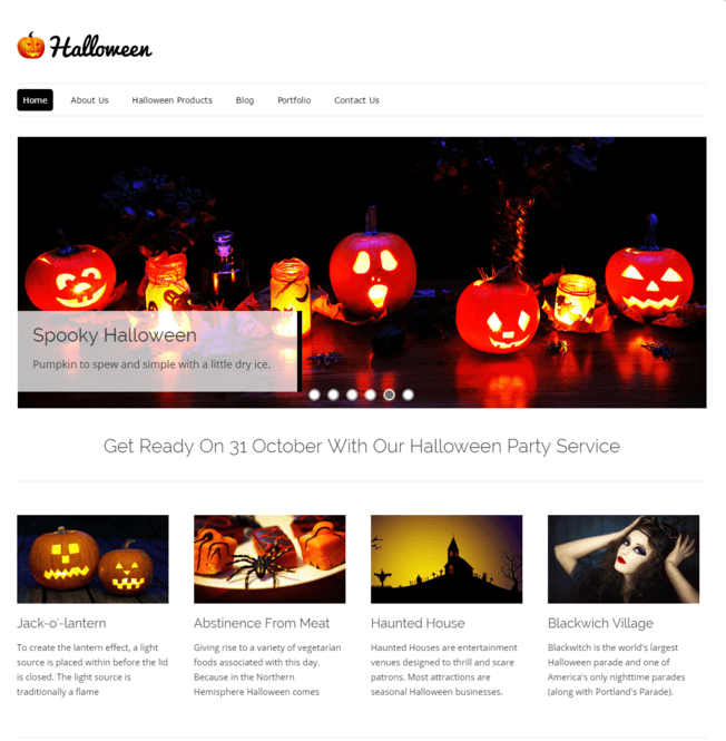 halloween wp theme