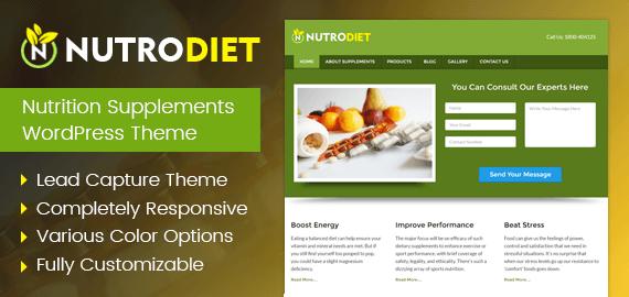 NutroDiet-Nutrition Supplements WordPress Theme