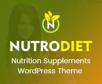NutroDiet - Nutrition Supplements  WordPress Theme