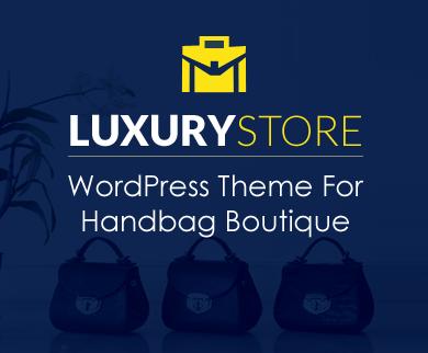 LuxuryStore - Handbag Boutique WordPress Theme