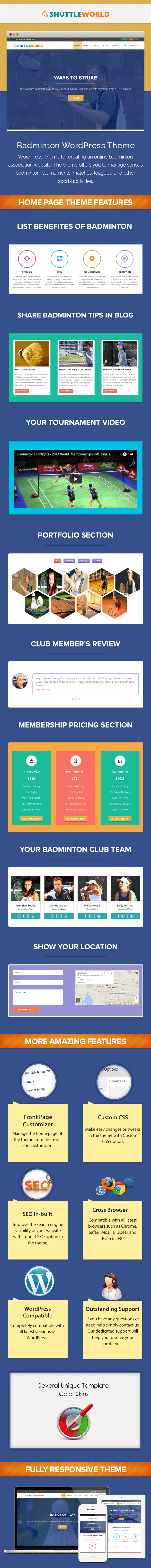 Badminton WP Theme
