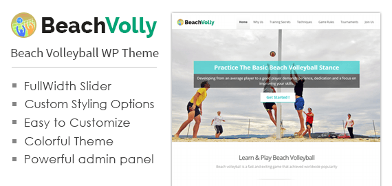 Beach Volleyball WordPress Theme