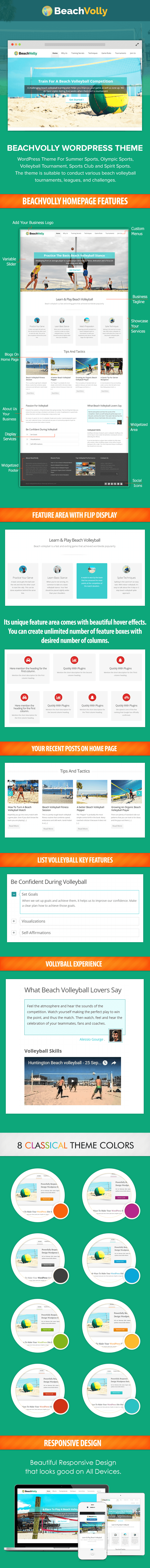 Beach Volleyball WP Theme
