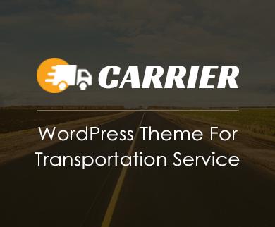 Carrier - Transportation WordPress theme