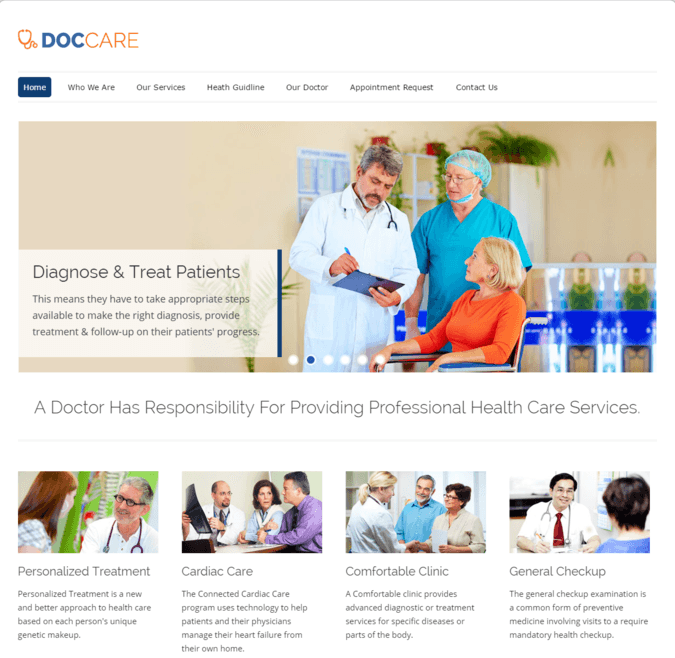 Doc care wp theme