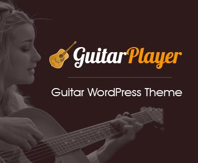 GuitarPlayer - Guitar WordPress Theme
