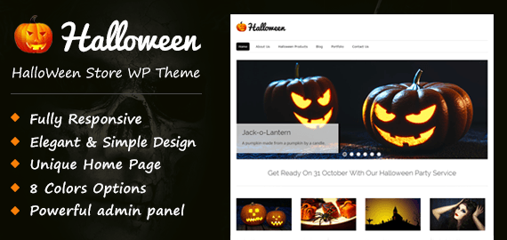 Halloween Store WordPress Theme