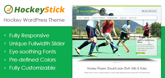 Hockey WordPress Theme