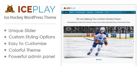 Ice Hockey WordPress Theme