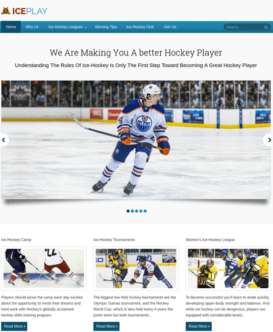 IcePlay wp theme