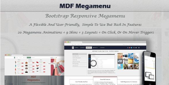 MDF Megamenu Bootstrap Responsive WordPress Megamenu