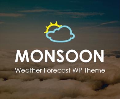 Monsoon - Weather Forecast WordPress Theme