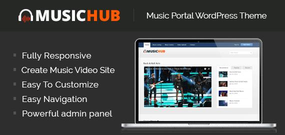 Music Portal\' Video Sharing WordPress Theme | InkThemes