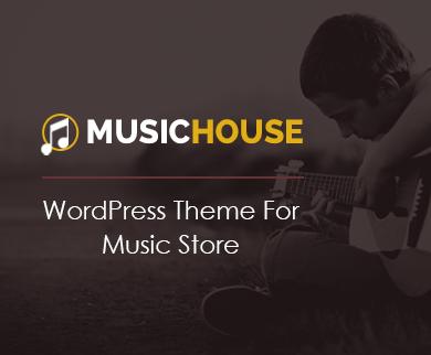 MusicHouse - Music Store WordPress Theme