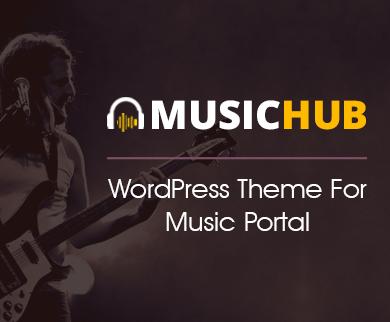 MusicHub - Music Portal WordPress Theme