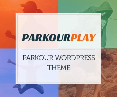 ParkourPlay - Parkour WordPress Theme