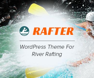 Rafter - River Rafting WordPress Theme