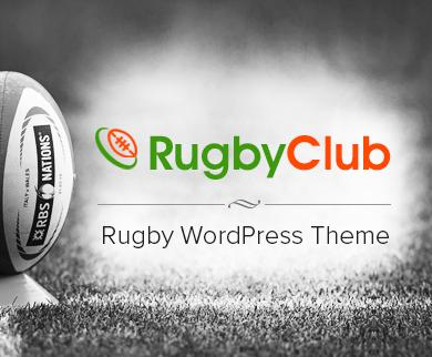 RugbyClub - Rugby WordPress Theme