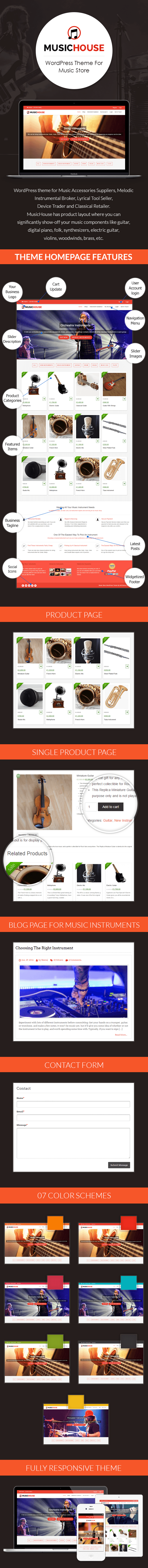 Music Store WordPress Theme