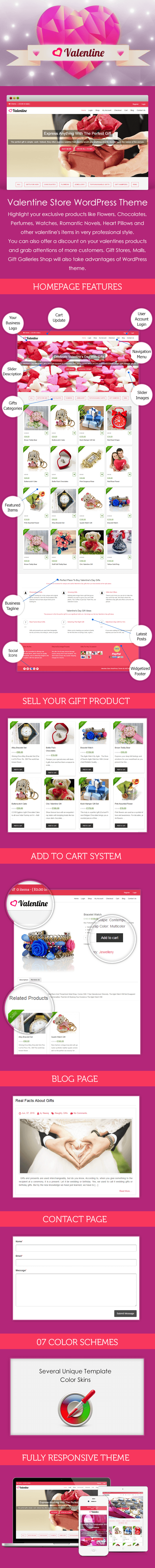 Valentine Store WordPress Theme