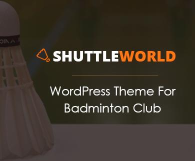 ShuttleWorld - Badminton WordPress Theme