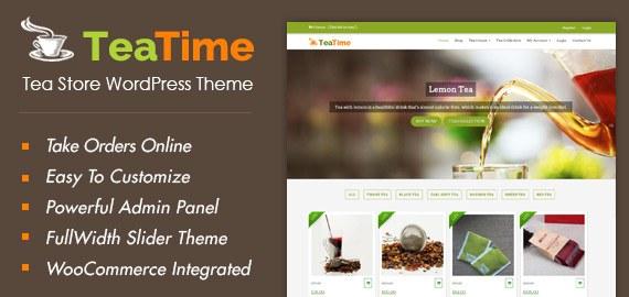 Tea Store WordPress Theme