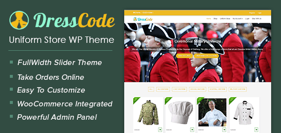 Uniform Store WordPress Theme