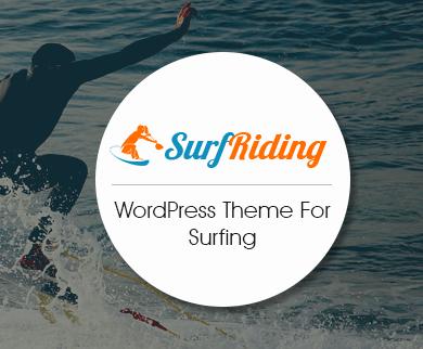SurfRiding - Surfing WordPress Theme
