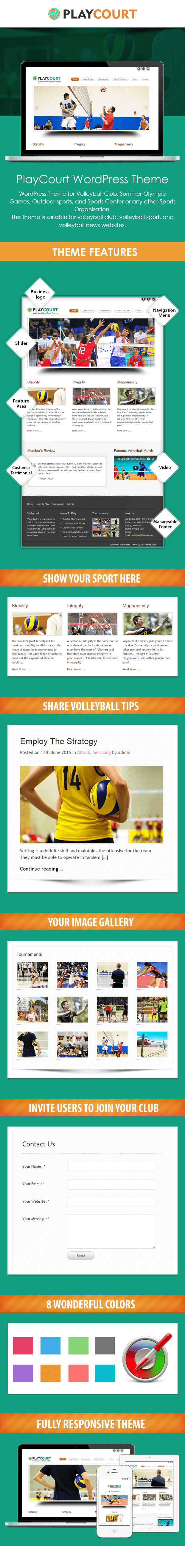 Volleyball WP Theme