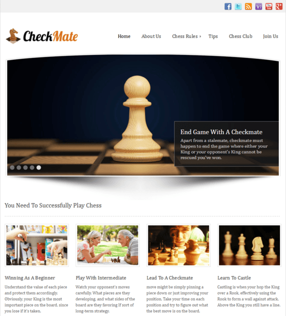 checkmat wp theme