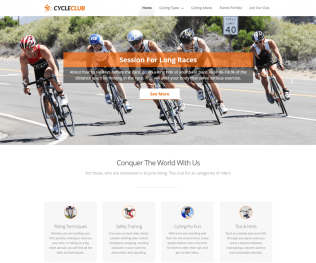 cycle club wp theme
