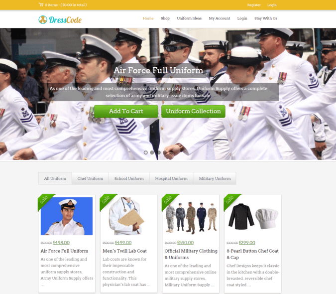 dress code wp theme
