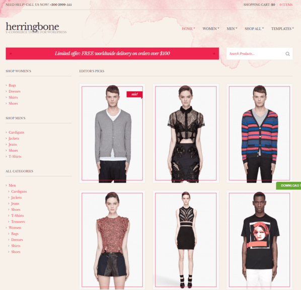 herringbon wp theme