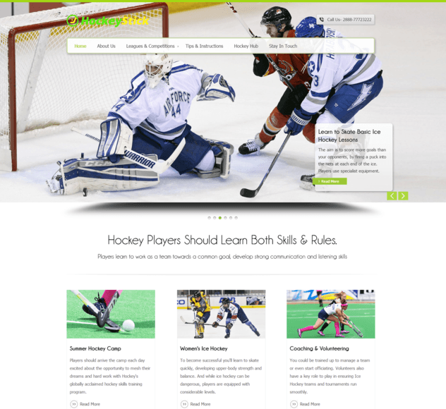 hockey stick wp theme