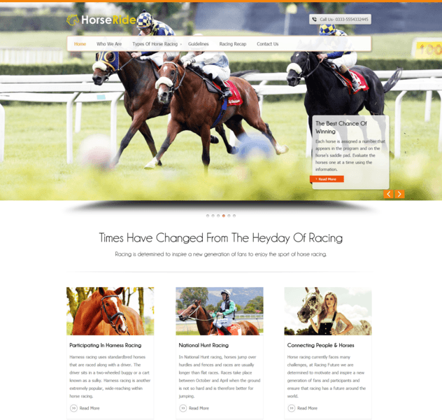horse ride wp theme