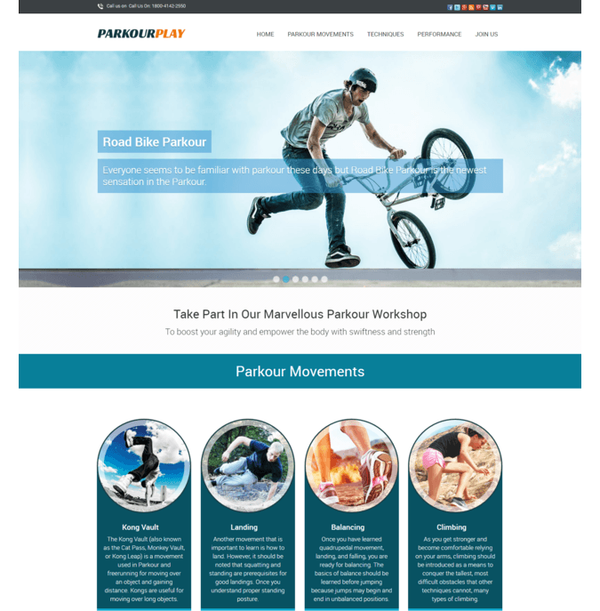 parkour play wp theme