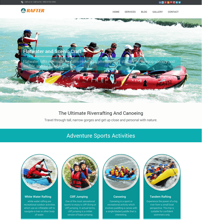 rafter wp theme