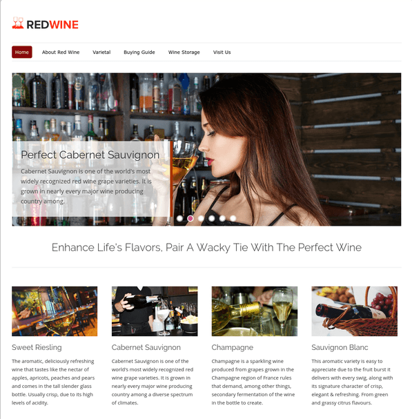 red wine wp theme