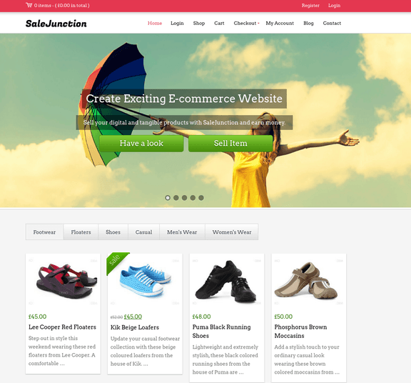 sales Junction wp theme