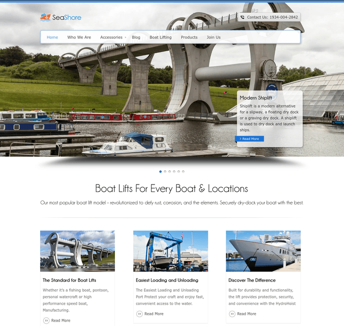sea shore wp theme
