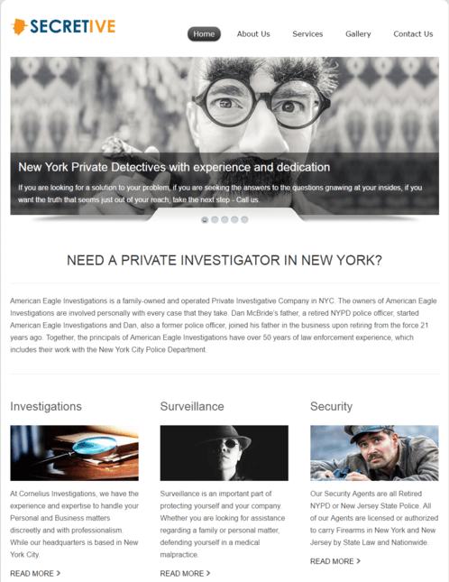 secretive WP Theme
