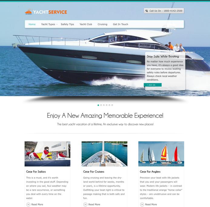 yacht service wp theme