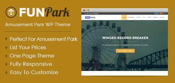 Funpark amusement park wordpress theme inkthemes amusement park wordpress theme maxwellsz